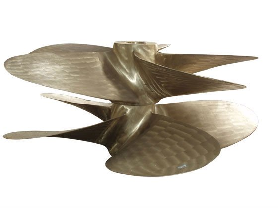 Marine bronze fixed pitch propeller