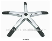 350, black with plastic foshan jindong ALUMINIUM ALLOY DIE-CASTING CHAIR BASE CHAIR PART