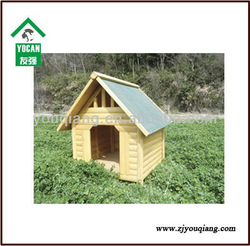 Outdoor water proof Wooden Dog Kennel with bitumen roof
