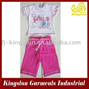2013 children's cotton 2pcs cloth,girl's 2pcs set