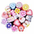 0.5x5cm projeto do natal, frutas, flor, bolo, borboleta, folha, fimo de argila do polímero de cana