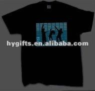 Customized Black EL Equalizer T Shirts