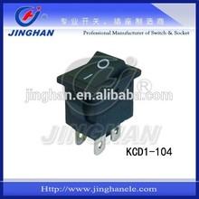 Miniature black or white on off rocker switch 6A 250V AC 10A 125V AC T125 T85