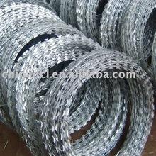 razor fencing coil;galvanized razor barbed wire