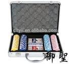 Poker Chips Set with Aluminum Case - 200pcs Chips