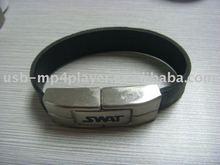 Hotsale leather wristband usb
