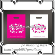 po hdpe ldpe plastic bags boutique shopping bags with handle
