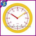 9 polegadas rodada amarela de plástico relógio de parede