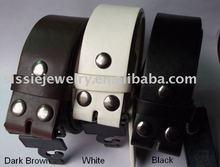 "Snap On Plain Leather Belt - 1 1/2"" W"