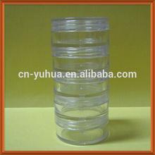 PJ1024 Yuyao Yuhui Commodity good PS wholesale non spill cosmetic 5layer 10ml jar