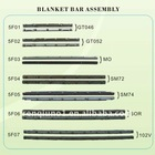 blanket bar/clamp for heidelberg 102V MO SM72 SM74, printing parts, printing spare parts