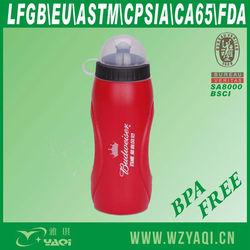500ml black plastic water bottle for Promotion