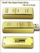 32GB Gold Bar Thumb drive usb flash drive USB 2.0 stick memory fashionable style U2022
