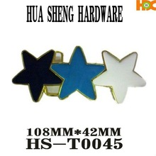 2012 HS colorful star-shaped metal buckle