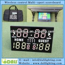 electric scoreboard scores Basketball, Wrestling, Volleyball and more,Portable Multisport electronic digital scoreboard