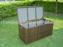 Outdoor furniture, wicker storage box.storage cabinet,