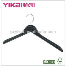 Couro revestido hanger forma plana para top exposição de vestuário