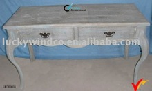 to paint plywood curved table legs in blue