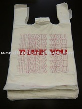 Hot sales and Cheap Price! Custom Printed plastic t shirt shopping bag
