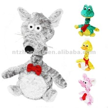 pet dog toy plush bungee musical mouse