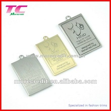 Hot Sale luxury brand laser metal tags for perfume bottle