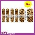 2012 quente e mais recente de leopardoimpresso folhas de unha arte unha decoração patch