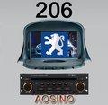 7 lecteurs DVD d'autoradio de pouce pour PEUGEOT 206 avec la navigation de GPS