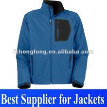 2013 waterproof & windproof fashion Men's softshell jacket