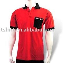 Bulk blank 100% cotton pocket polo t-shirt fro men
