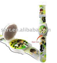 Flip top bubble watch for children