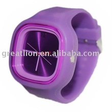 fashion popular jelly silicone watch for gift