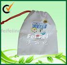 ECO friendly cotton polyester blend cotton drawstring bag pouch