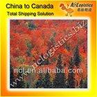 sea cargo shipping service Canada