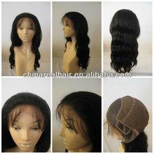 100% human hair handmade glueless full lace wigs