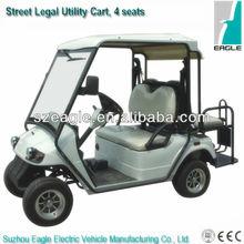 Street legal EEC buggy EG2028KSZR-01(48V/5KW AC system), EEC certified electric golf utility car with flip-flop seat, 4 seats