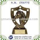 Golden custom horse sculpture trophy