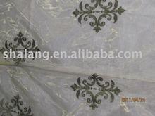 100% polyester organza window curtain fabric decoration embroidery organza
