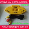 AV Audio Video 3 Way Switch Game Selector Switcher Splitter 3 in 1 out