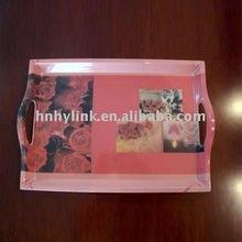 Rectangular printing melamine waiter tray