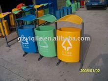 Outdoor metal dustbin
