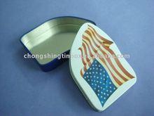 2013 new products irregular shape gift tin box from Dongguan