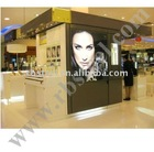 wood cosmetic display stand mdf make up display painting stand shopfixture