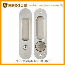 New seller zinc alloy satin nickel finish entrance sliding door lock