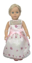 18 inch American girl doll dress in doll collections with bowknot desgin