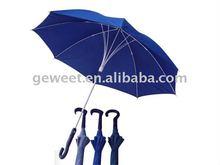 "23""8K rubber curve handle straight umbrella"