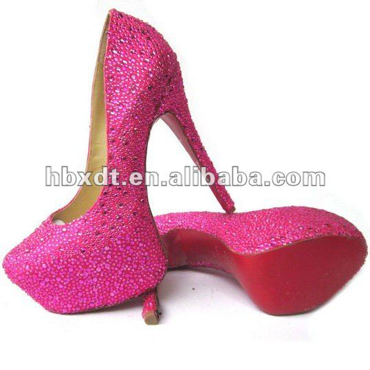 2012 new shoesDiamond bridal shoes fashion high heel shoes