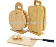 rubber wood cutting board set/chopping board