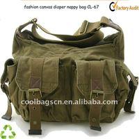 fashion canvas mummy diaper bag