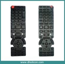 Remote control silicone& rubber keypad