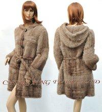CX-G-A-46A Genuine Mink Fur Coat